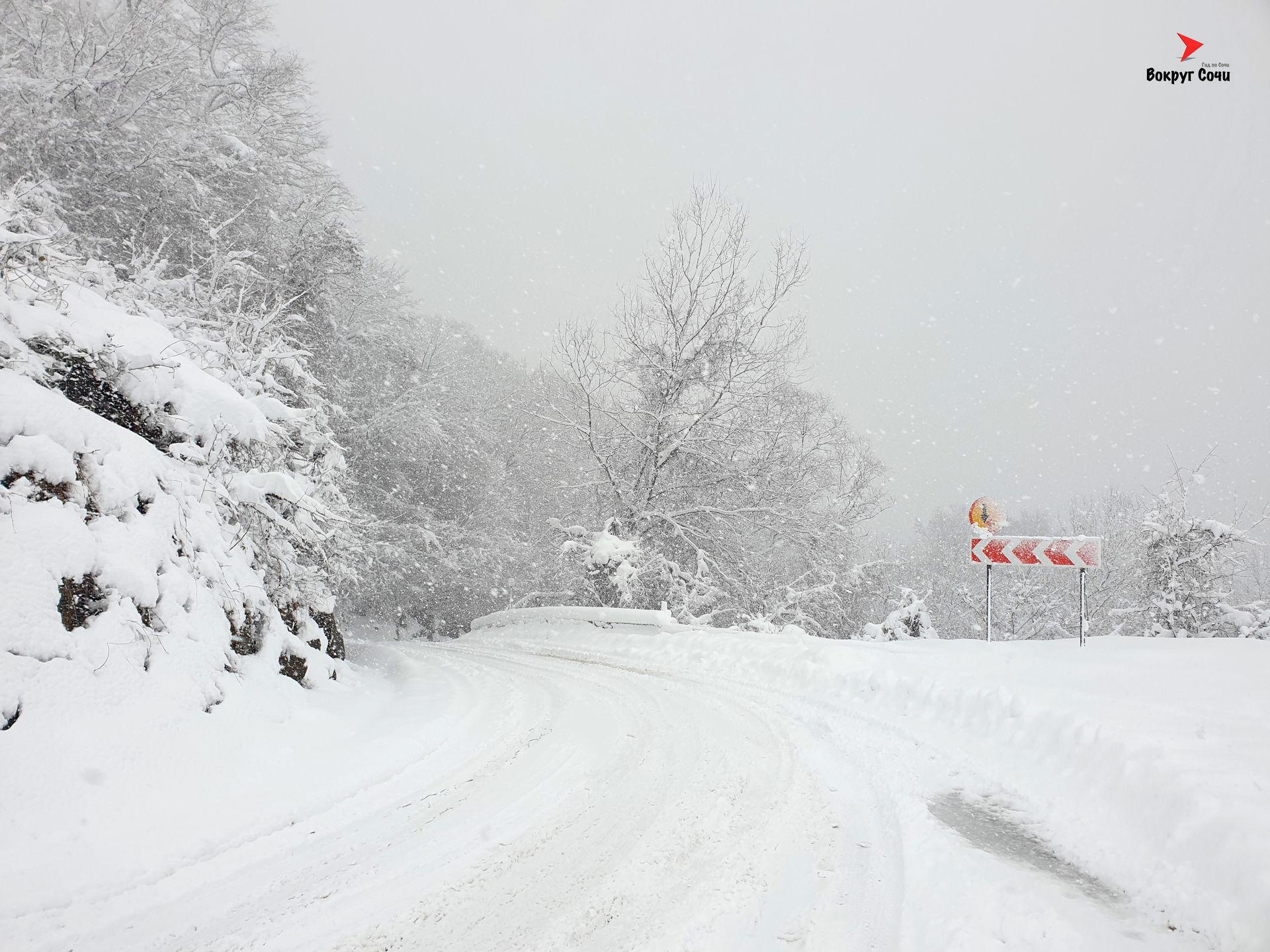 Зима в Сочи.